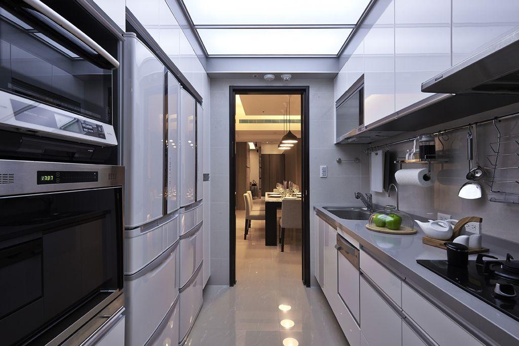 时尚简约现代风厨房 橱柜效果图