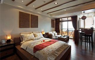 休闲东南亚风情 一居室公寓效果图