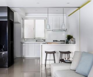 时尚简约现代风厨房吧台设计