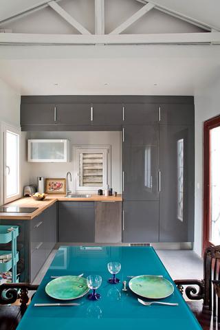 时尚简约风厨房 灰色橱柜效果图