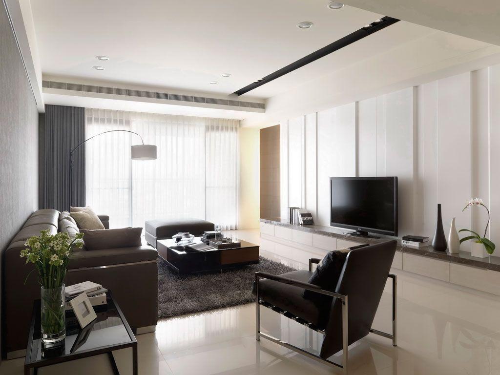 素雅现代一居客厅整体效果图