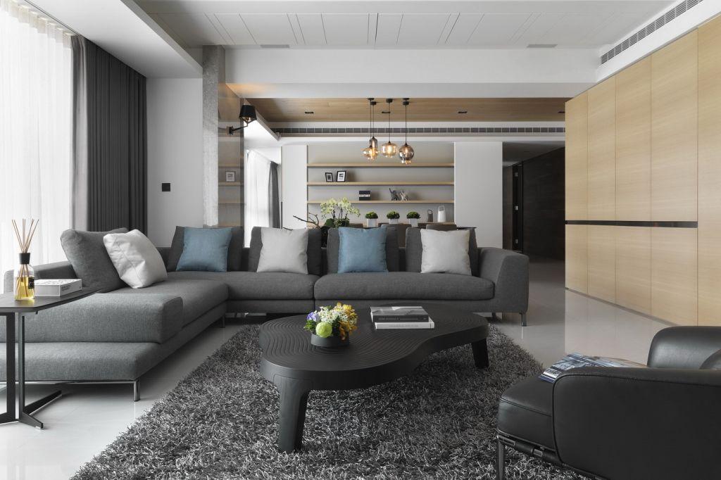 时尚宜家风客厅沙发效果图