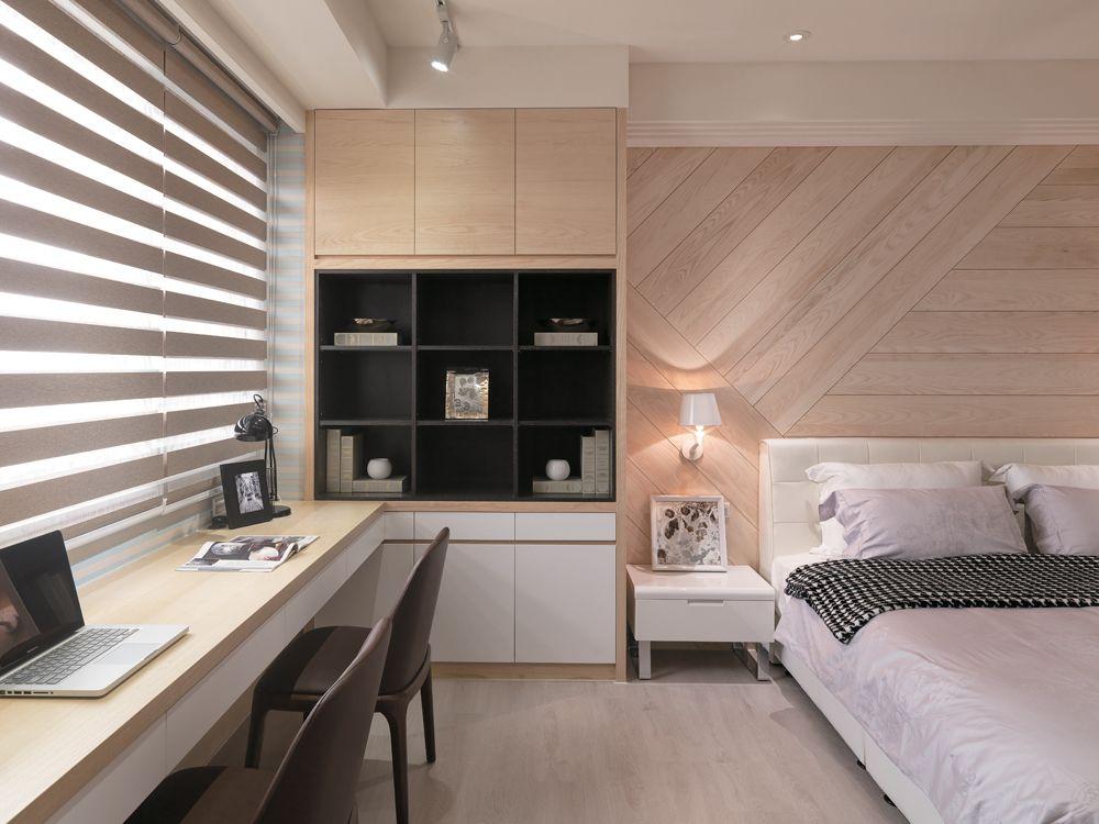 宜家美式卧室 地板背景墙欣赏