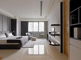 沉韵优雅简约现代卧室装修欣赏图
