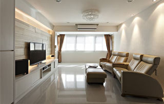 素色日式简约风三居装饰设计
