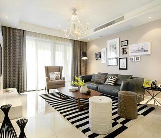 波普现代装修风格三室两厅装潢效果图
