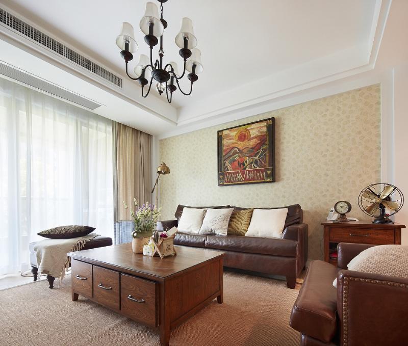 乡村复古美式客厅家装设计