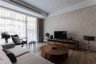 现代简约客厅石膏背景墙装饰效果图