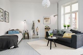 黑白北欧风 单身公寓家居设计