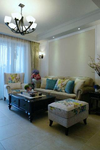 精美美式风格客厅沙发装饰欣赏图