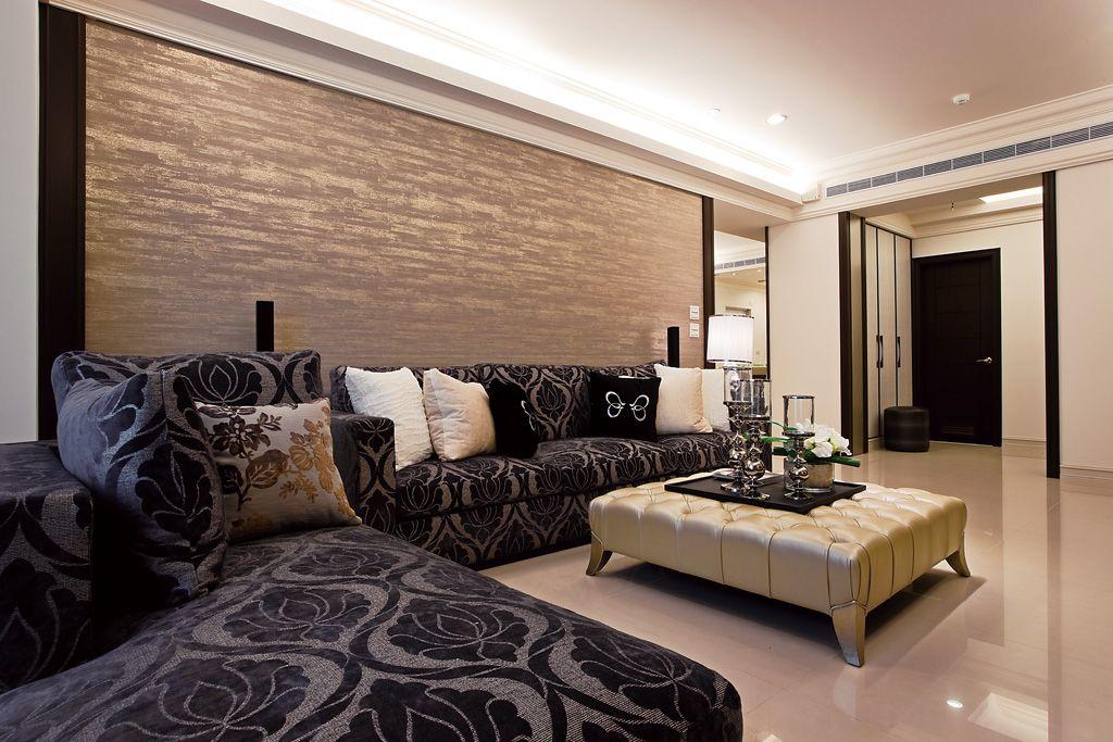 宜家风格客厅沙发布置效果图