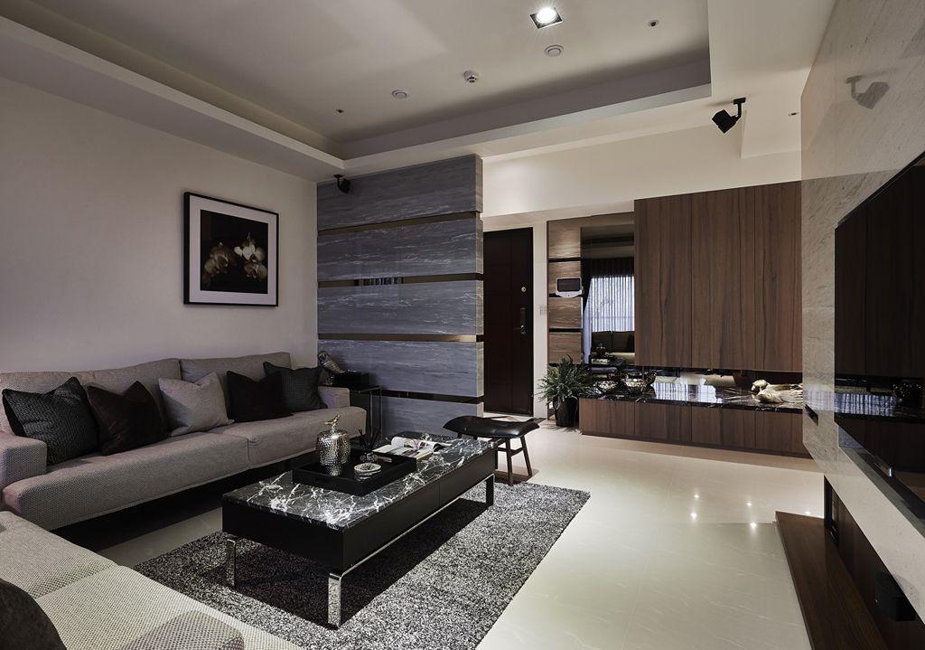 简约后现代 客厅隔断设计