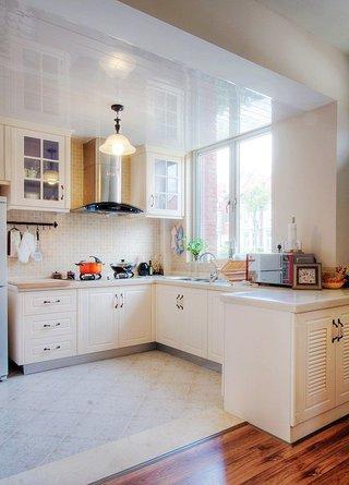 简美式厨房橱柜效果图
