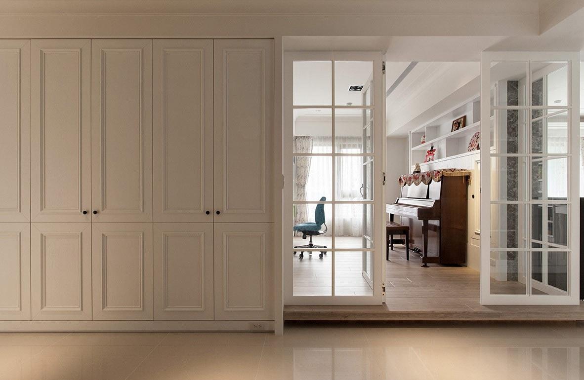 北欧设计家居玻璃折叠门隔断效果图