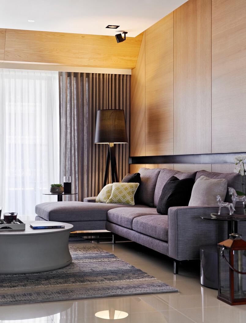 时尚现代简约家居客厅沙发装饰效果图