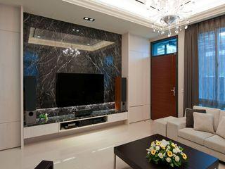 时尚现代大理石电视背景墙欣赏