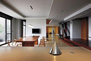 精致简中式餐厅吊顶设计