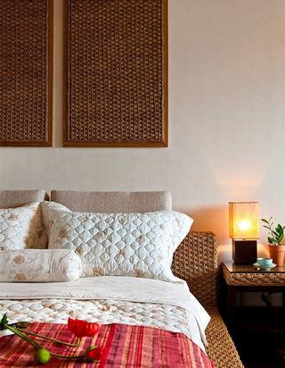 浪漫东南亚风情卧室床头灯设计