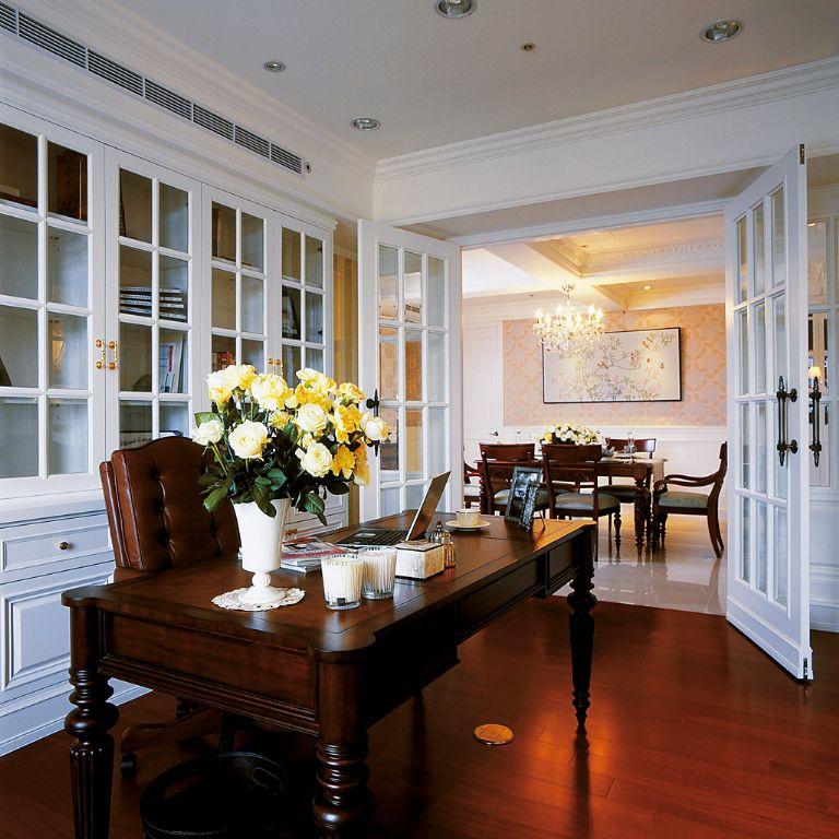 时尚大气美式风格家居室内隔断设计装修图