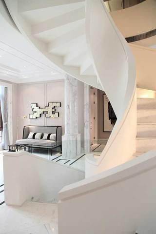 唯美简欧旋转楼梯设计