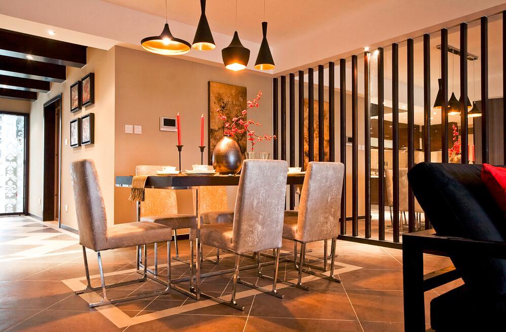 时尚现代创意混搭设计餐厅装潢效果图