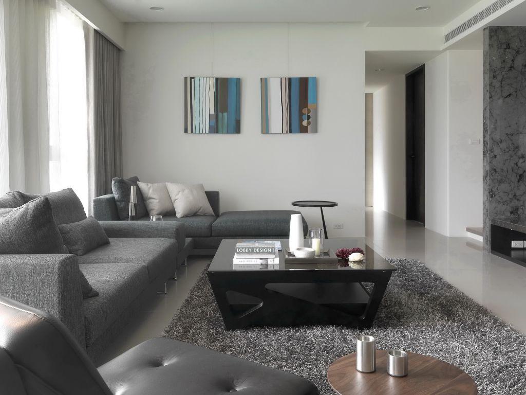 时尚美式客厅照片墙设计