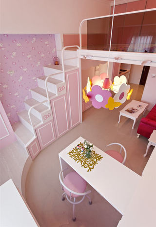 简约粉色公寓装修效果图