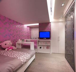 现代可爱粉色儿童房设计