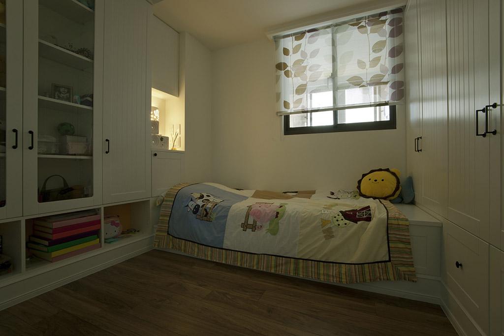 简美式儿童房窗帘效果图