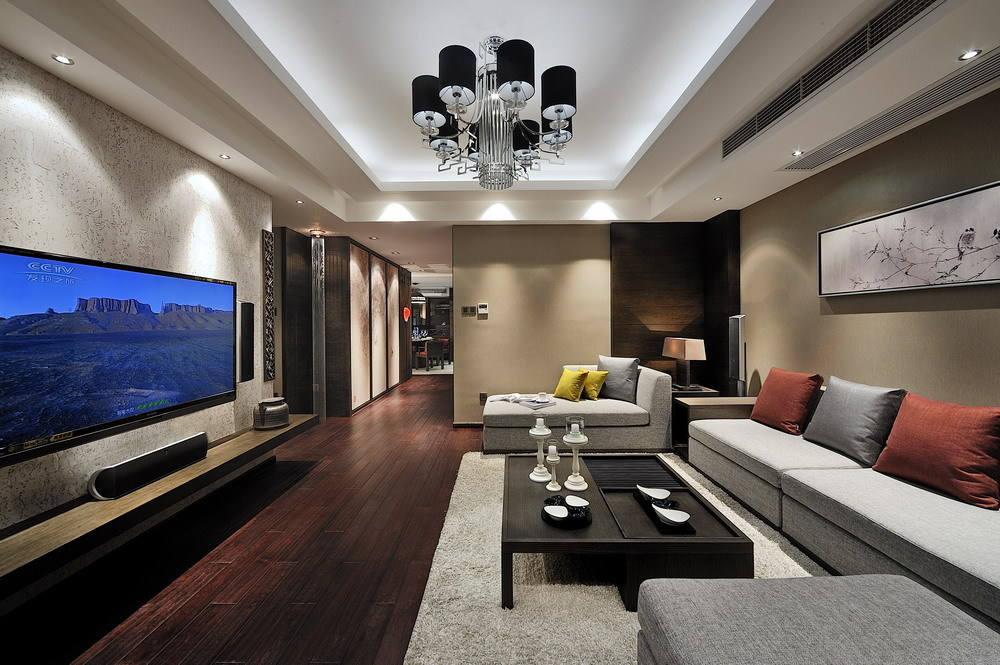 130平米三室两厅成熟仿古现代风格设计装修