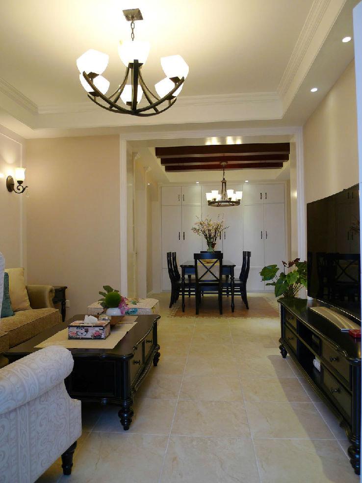 古朴典雅美式风格小户型室内装修图例