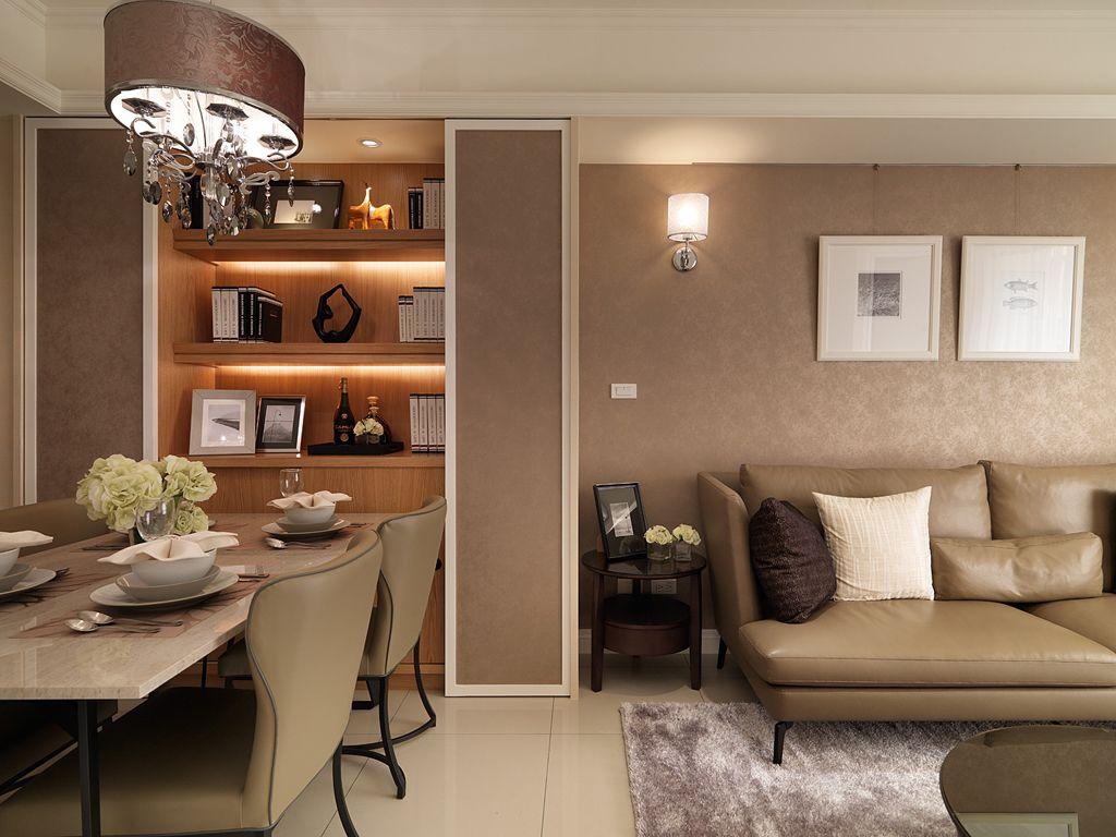 现代简约装修客厅壁灯装饰效果图