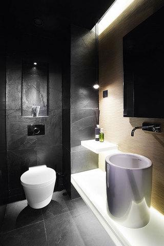 黑色摩登现代风卫生间设计