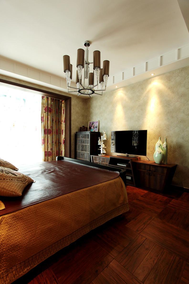 新中式卧室电视背景墙设计