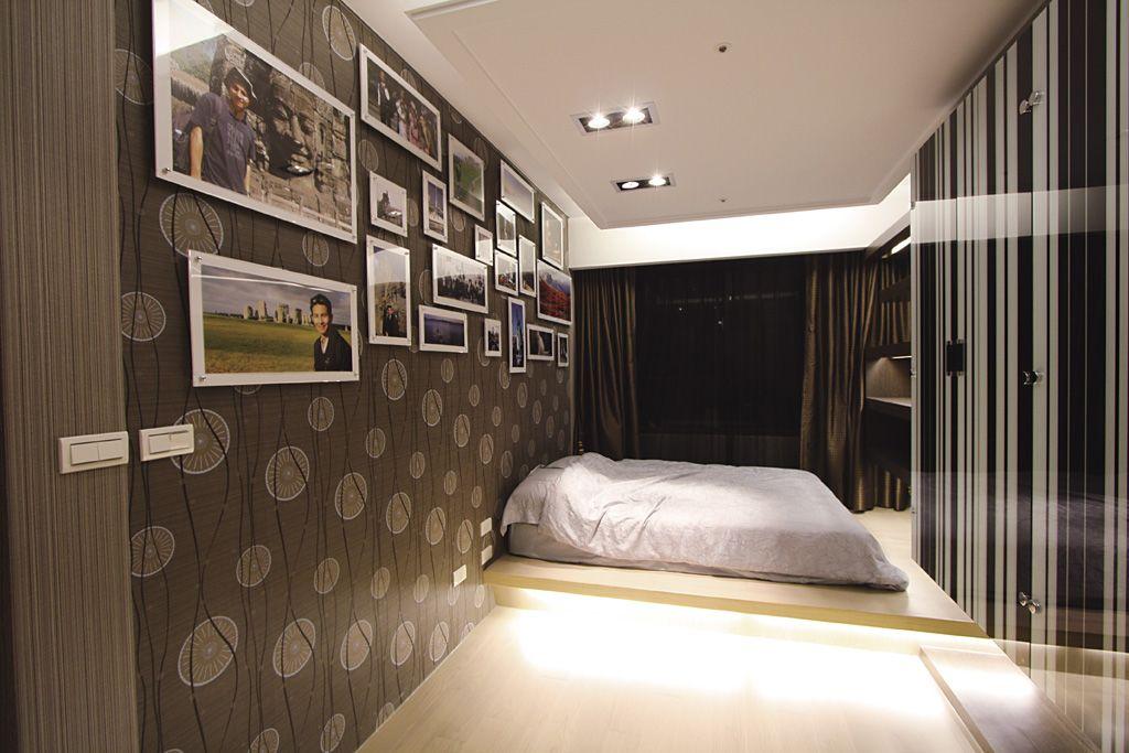 时尚现代卧室相片墙效果图