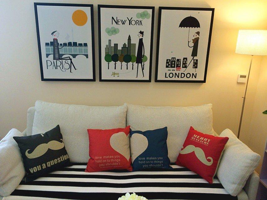 北欧风格家居室内挂画装饰效果图