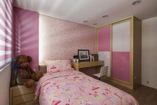 现代时尚粉色儿童房装修图