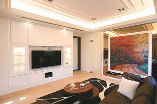 浪漫简欧风格家居客厅装饰画装修欣赏图