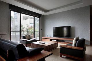 素雅简约新中式客厅设计