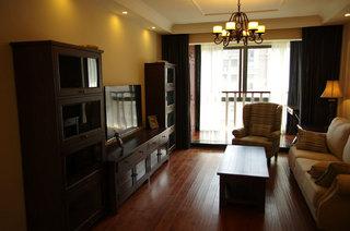 5萬預算裝修古樸美式風格小戶型二居室案例圖