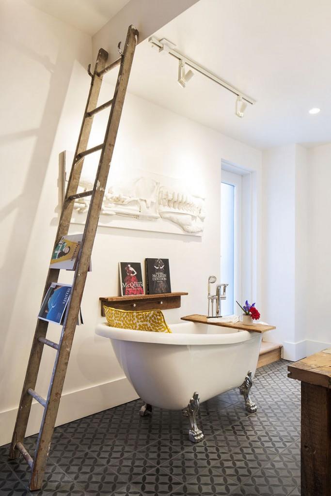 复古北欧风卫生间浴缸设计图