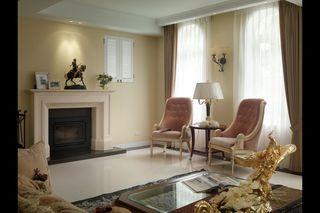 唯美古典简欧风 客厅壁炉装饰设计