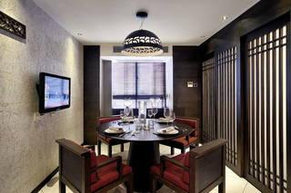 实木沉韵现代餐厅精装样板间欣赏
