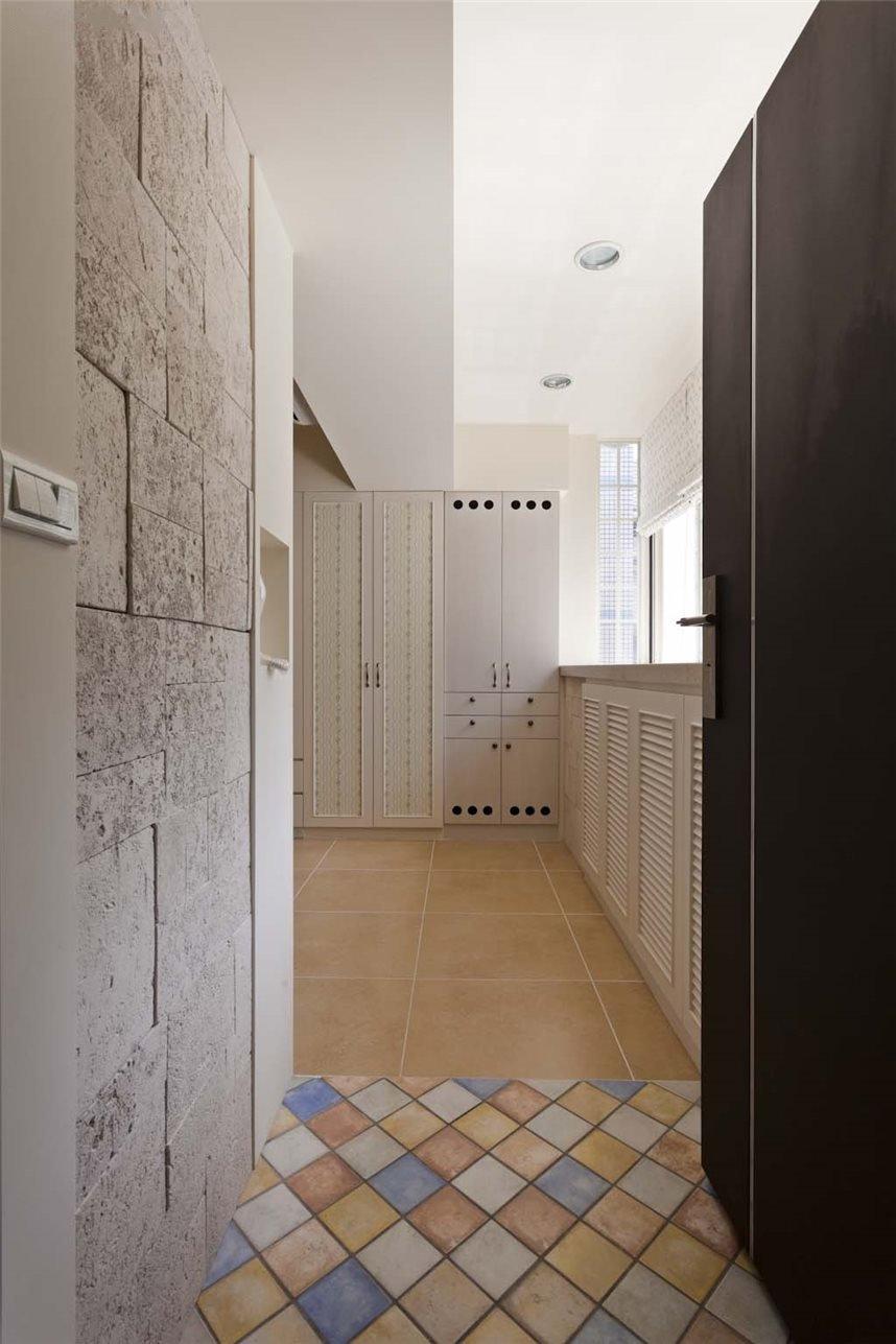 复古北欧风格过道瓷砖效果图
