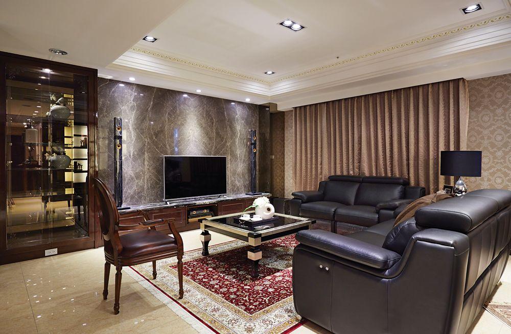 奢华新古典客厅 电视背景墙设计