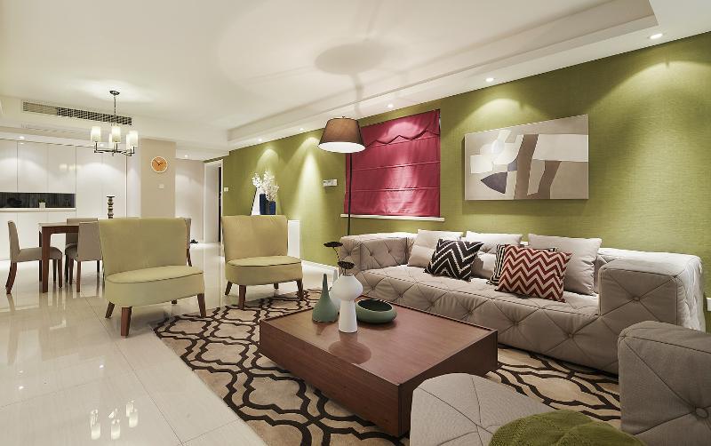 家装现代波普设计风格公寓室内装潢美图