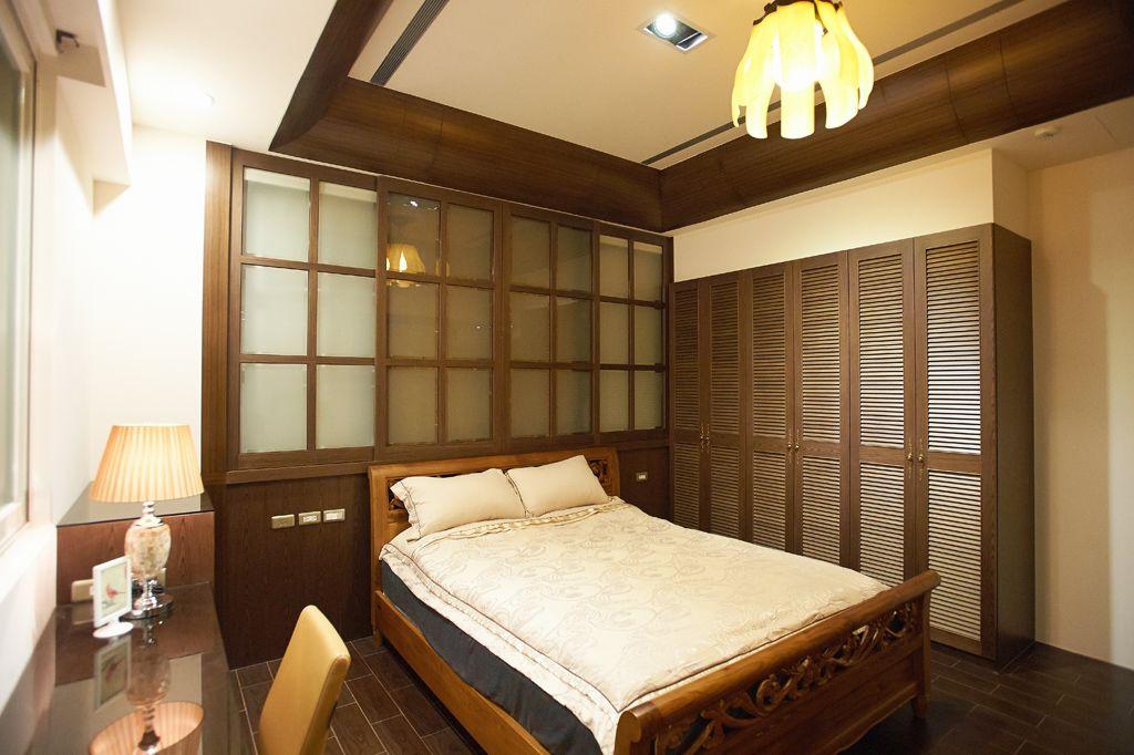 古朴美式风格卧室装修欣赏图