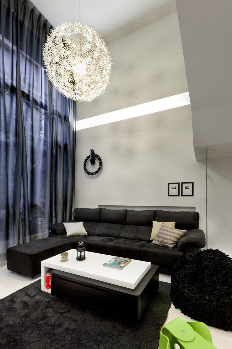 摩登简约现代风 别墅客厅效果图
