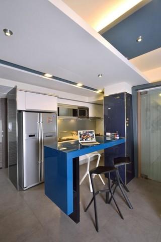时尚现代厨房吧台装潢图