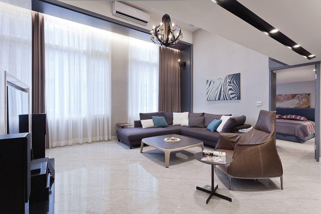 时尚现代风客厅窗帘效果图